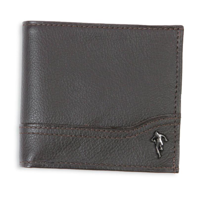 Grand portefeuille en cuir marron