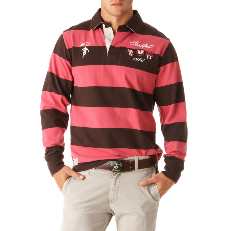 N°8 Striped Polo Shirt