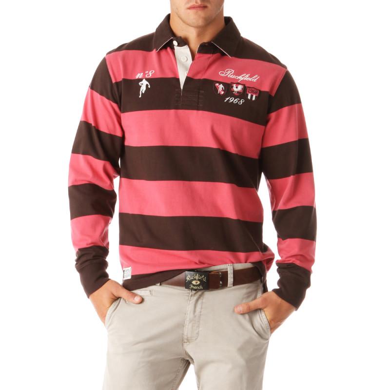 N°8 Striped Polo Shirt