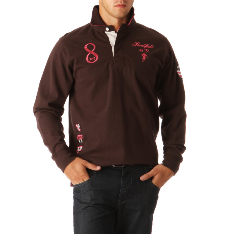 N°8 Cotton Jersey Polo Shirt