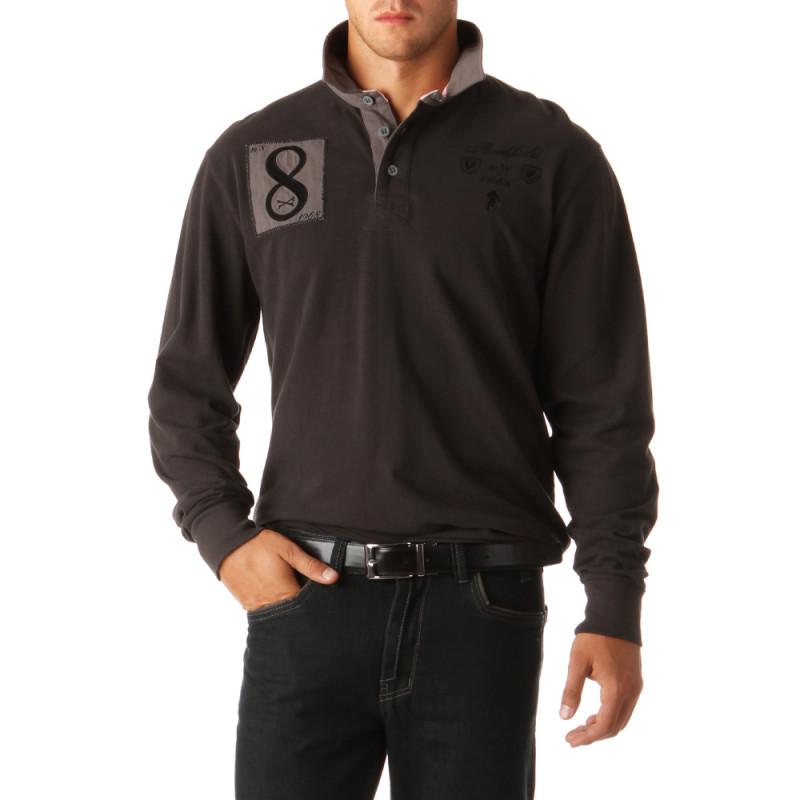 N°8 Cotton Piqué Polo Shirt