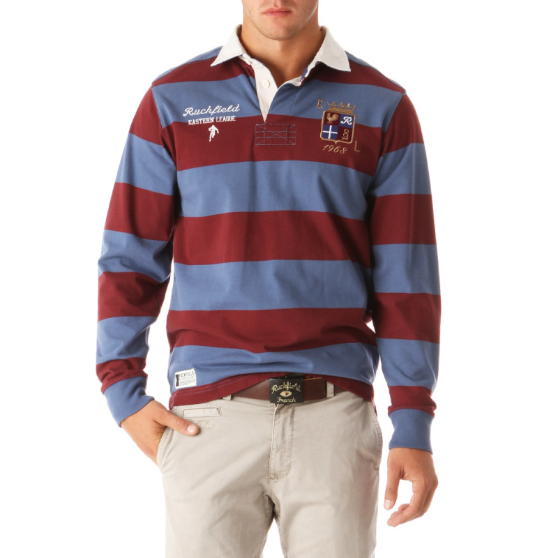 Rugby Collège Striped Polo