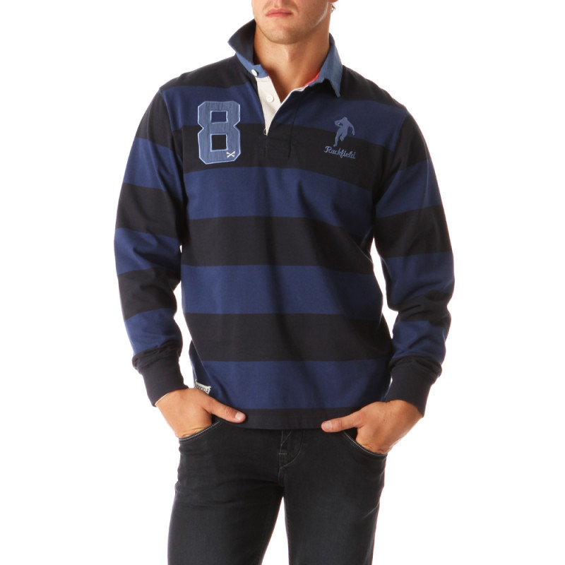 Rugby Essentiels Striped Polo