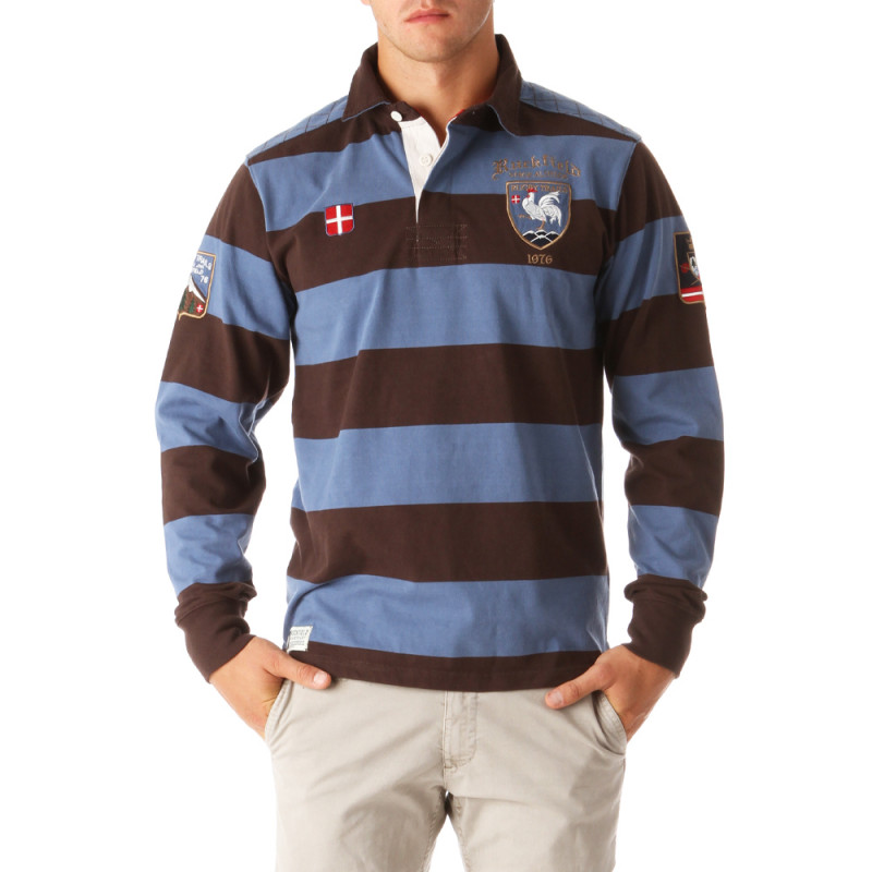 Rugby Altitude Striped Polo