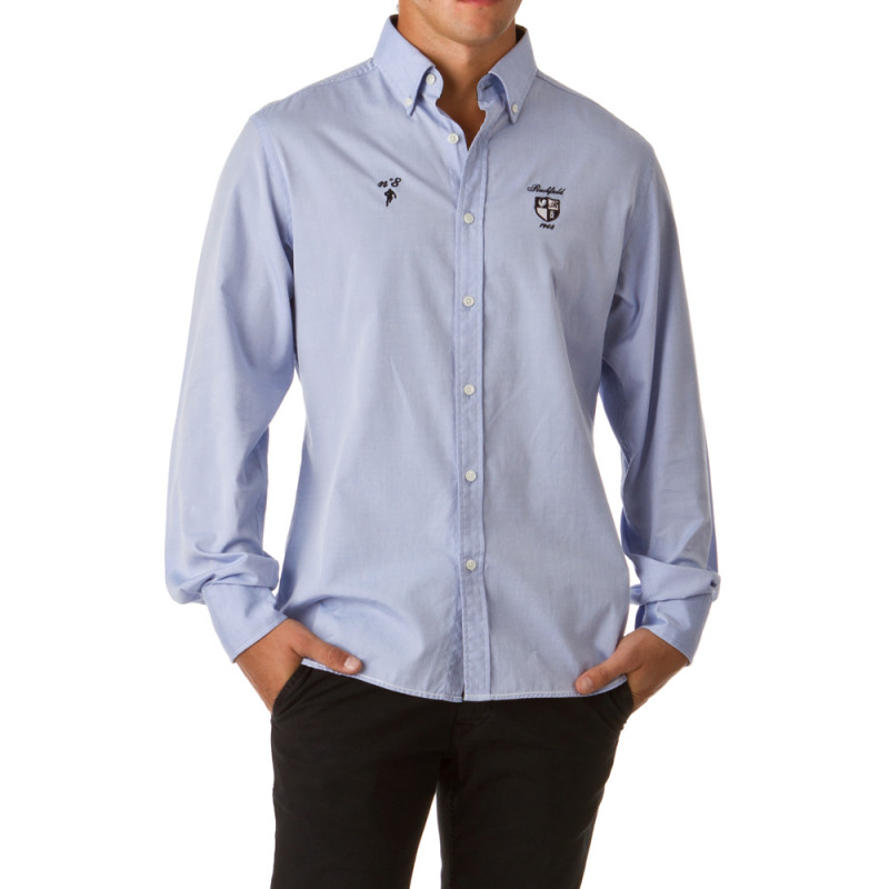 Sky Blue Classic Rugby Shirt