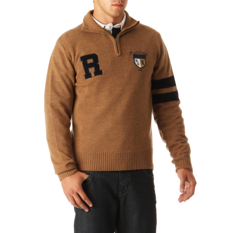 College Rugby Zip-Nec Pullover
