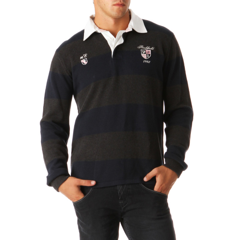 Classic Striped Rugby Pullover