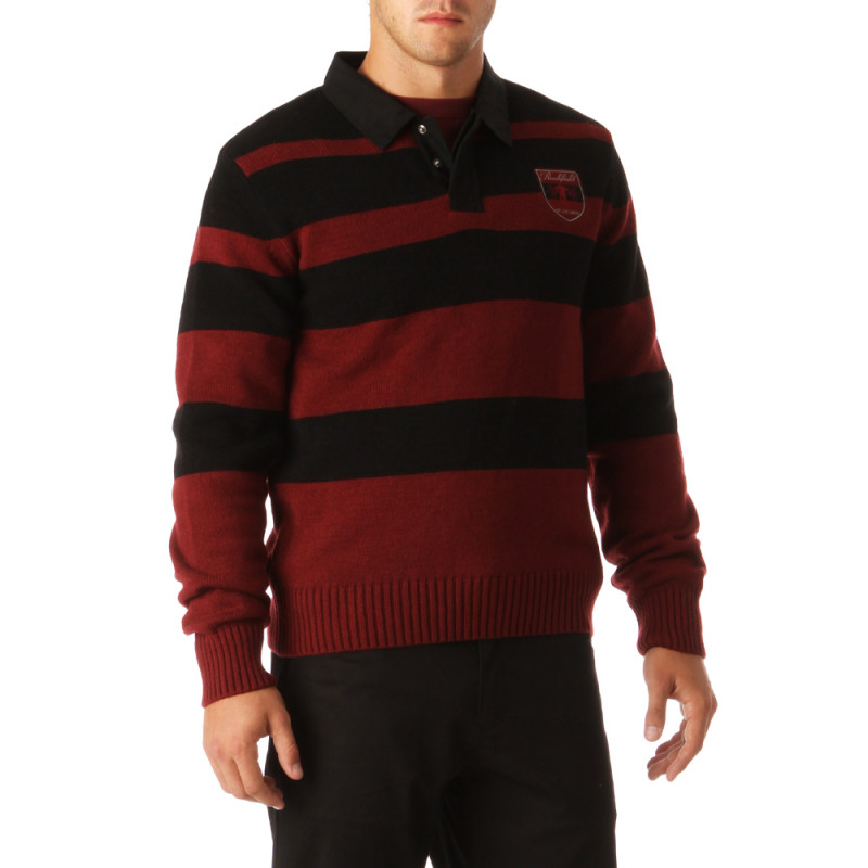 Preppy Striped Rugby Pullover