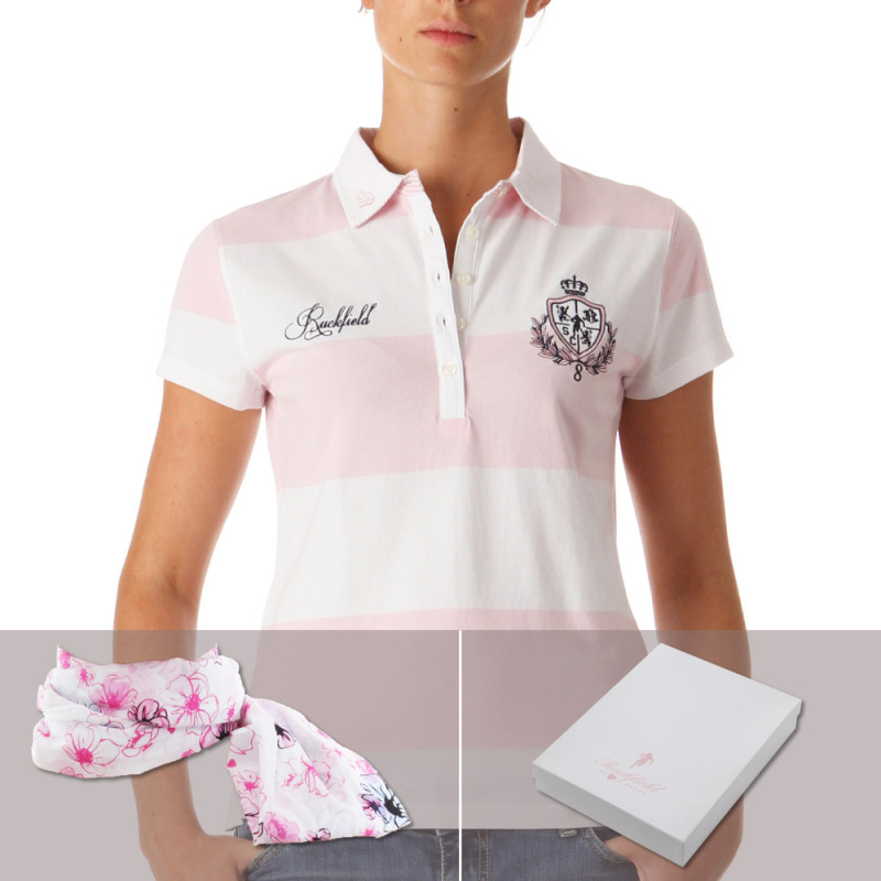 Box with a Women Polo Shirt + Scarf