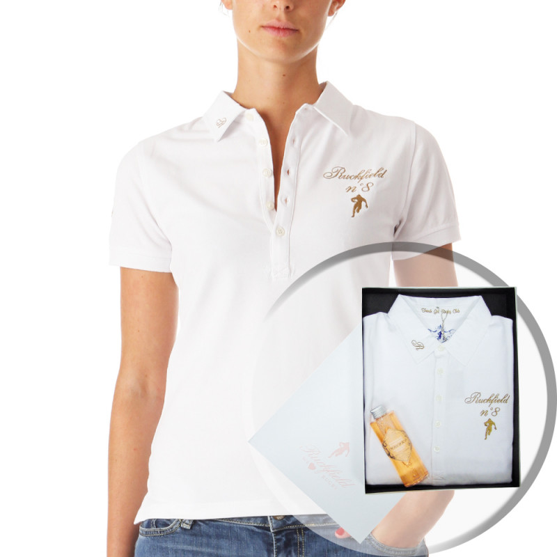 Box with a Women Polo Shirt + Shower Gel