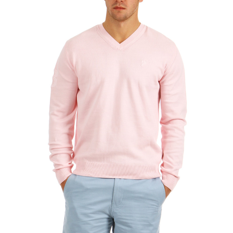 Light pink V-neck Pullover