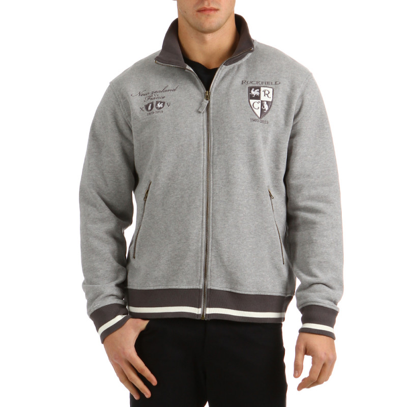 Hooded Zip Silver