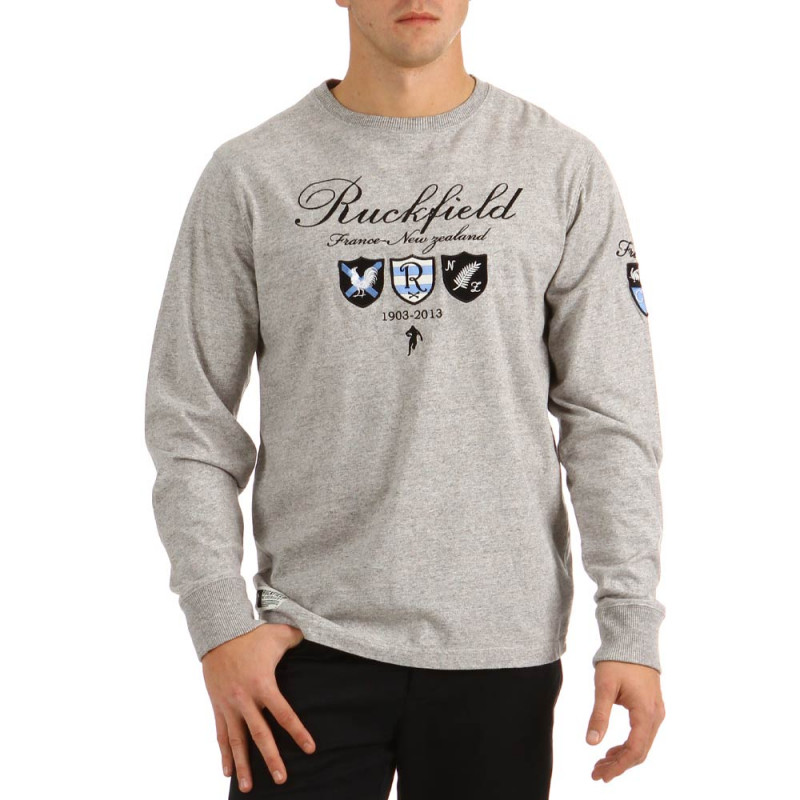 T-shirt rugby Silver