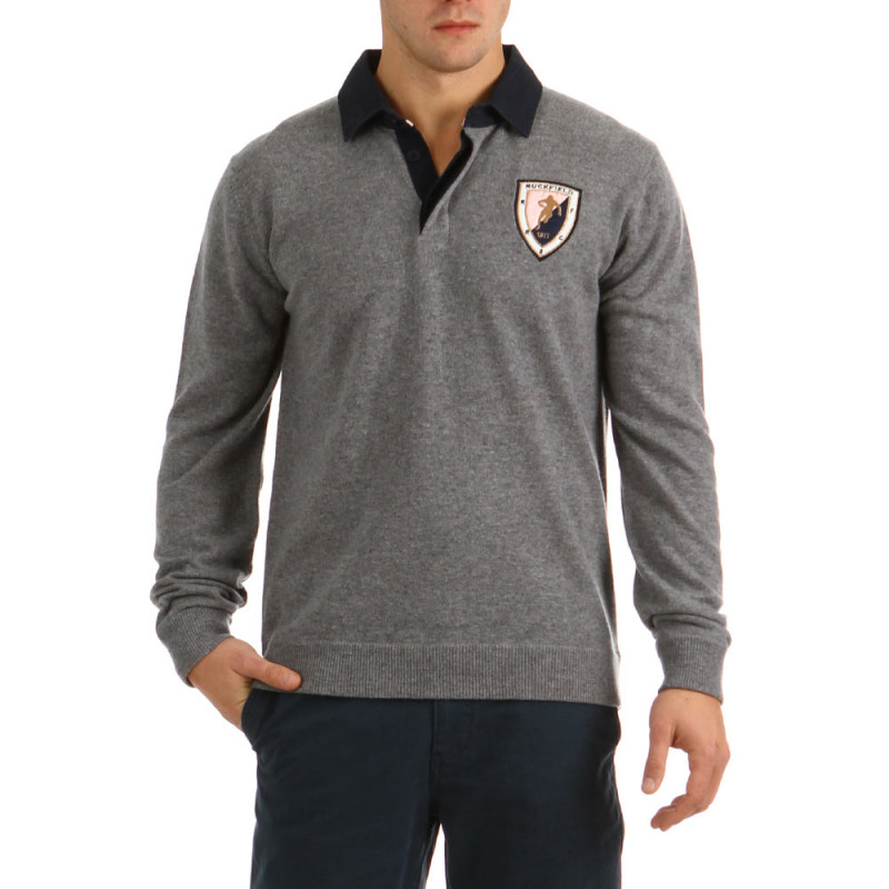 Polo neck Sweater College Gray