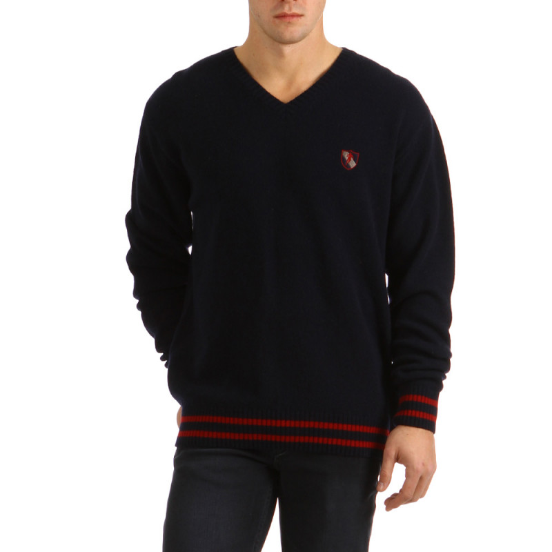 Pull V Neck Rugby Navy Blue