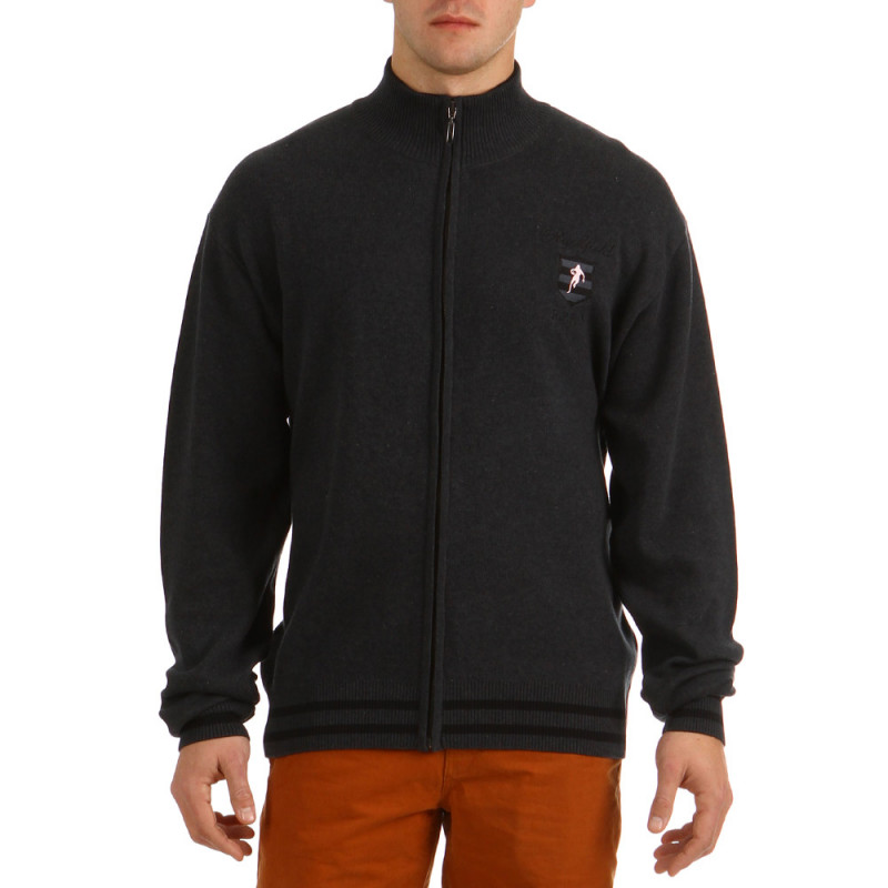 Hooded Zip College Gray