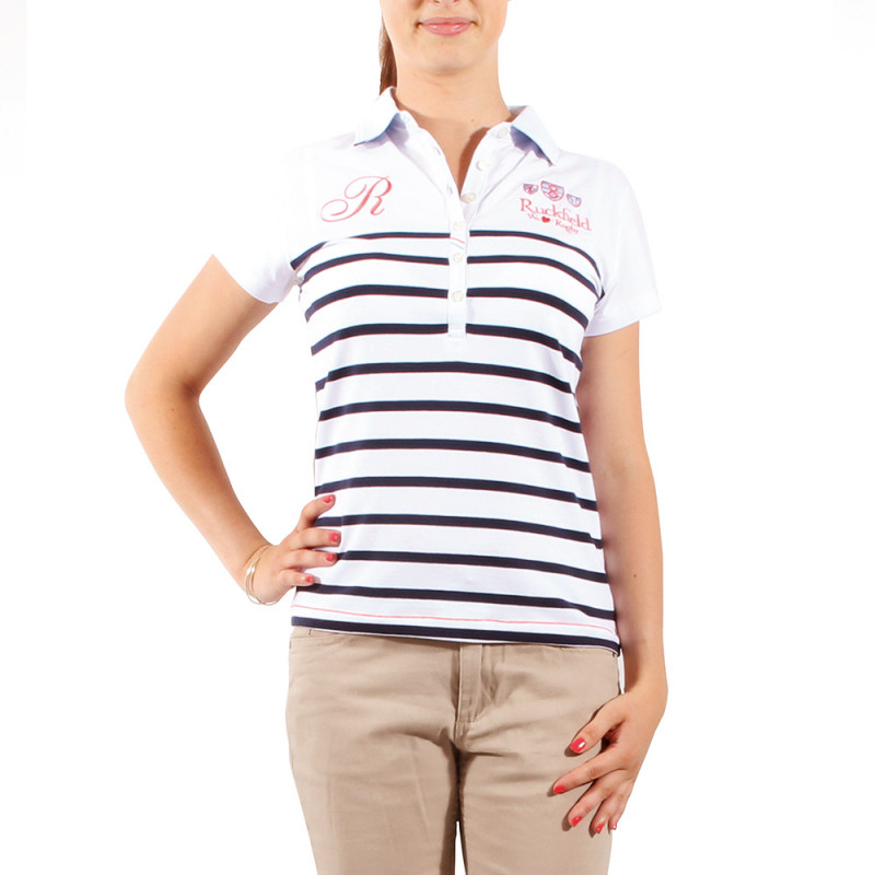 White sailor polo shirt