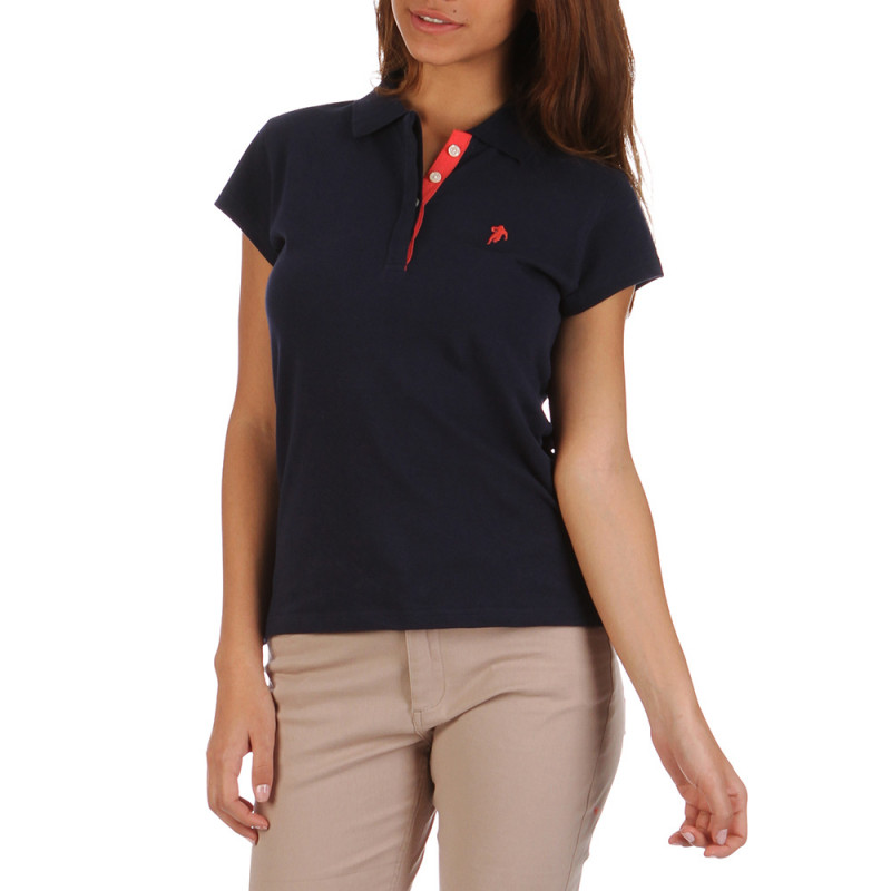 Women Essentials blue polo shirt