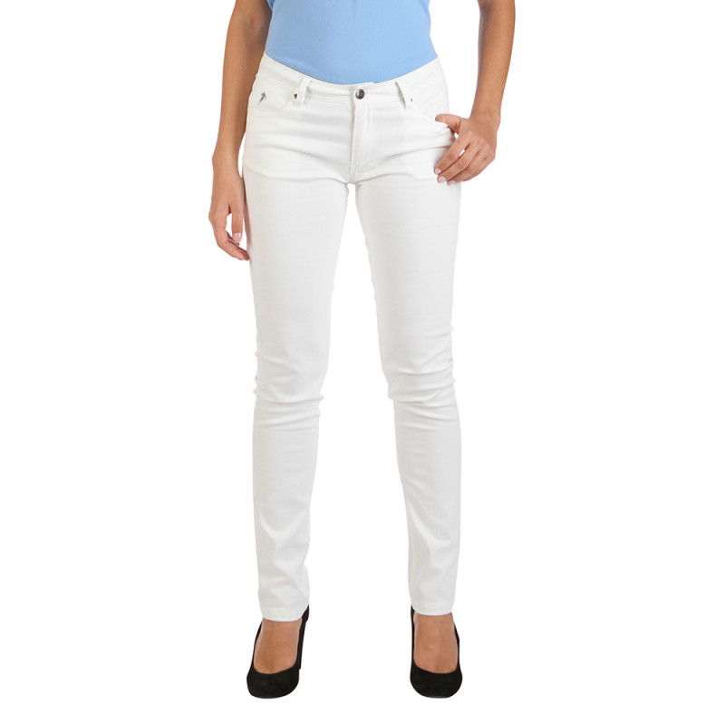 Basic women's white trousers