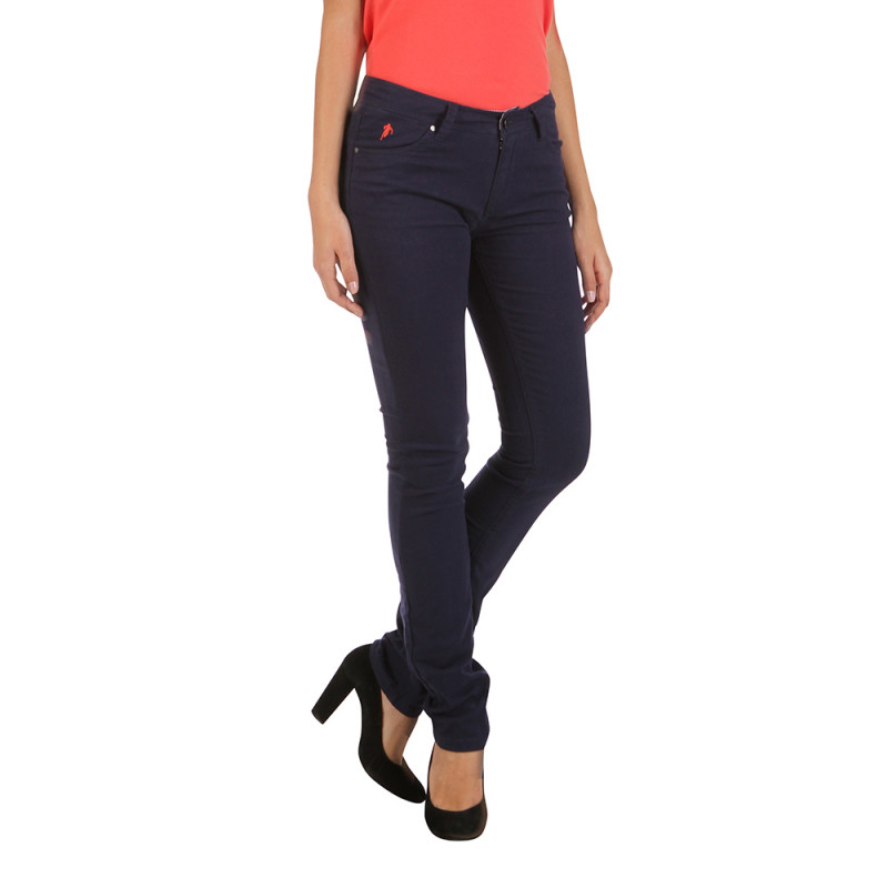 Basic women's blue trousers