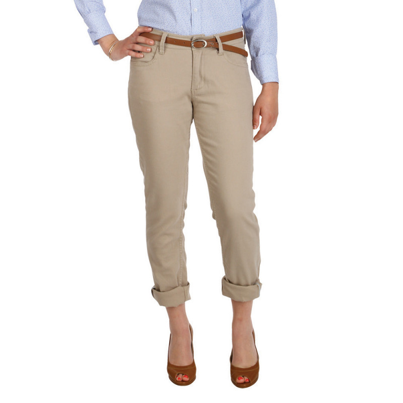 Basic women's beige trousers