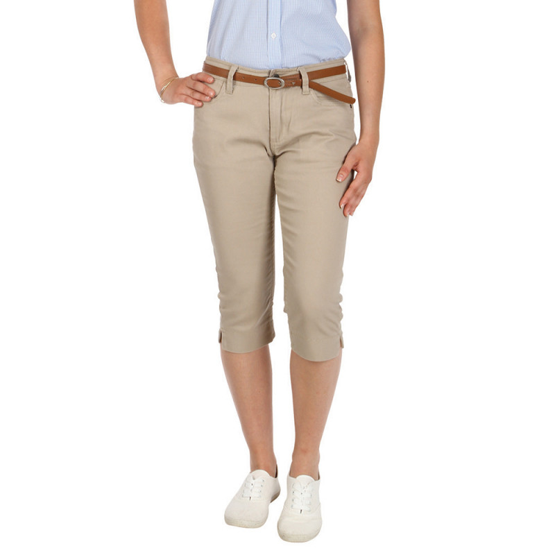 Essentials white capri pants