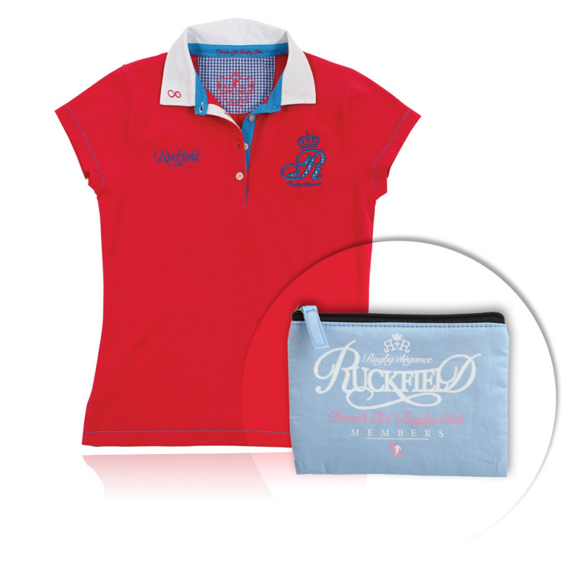 Gift pack for Her, polo shirt + make-up bag
