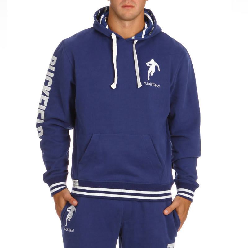 Blue sport fleece sweatshirt