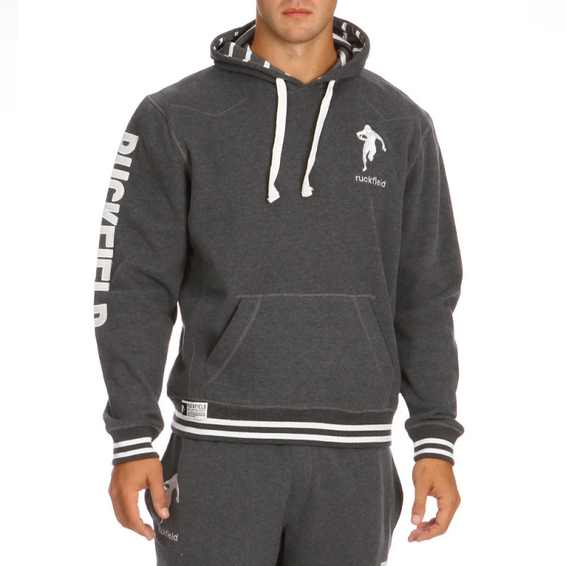Grey sport fleece sweatshirt