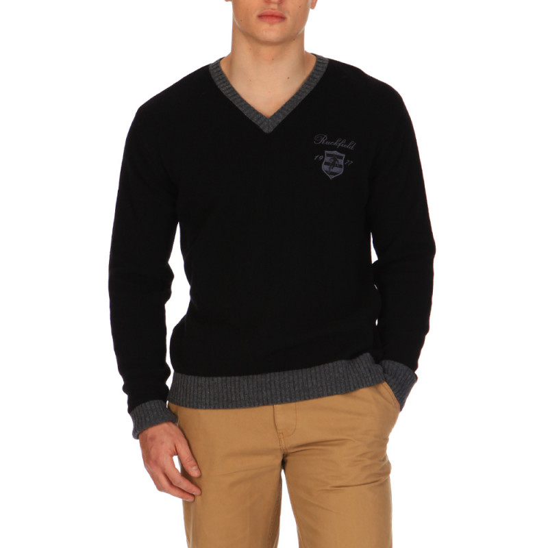 Pull V Neck College Black