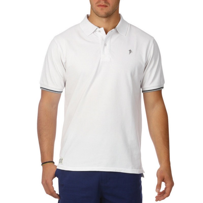 All Road white polo shirt
