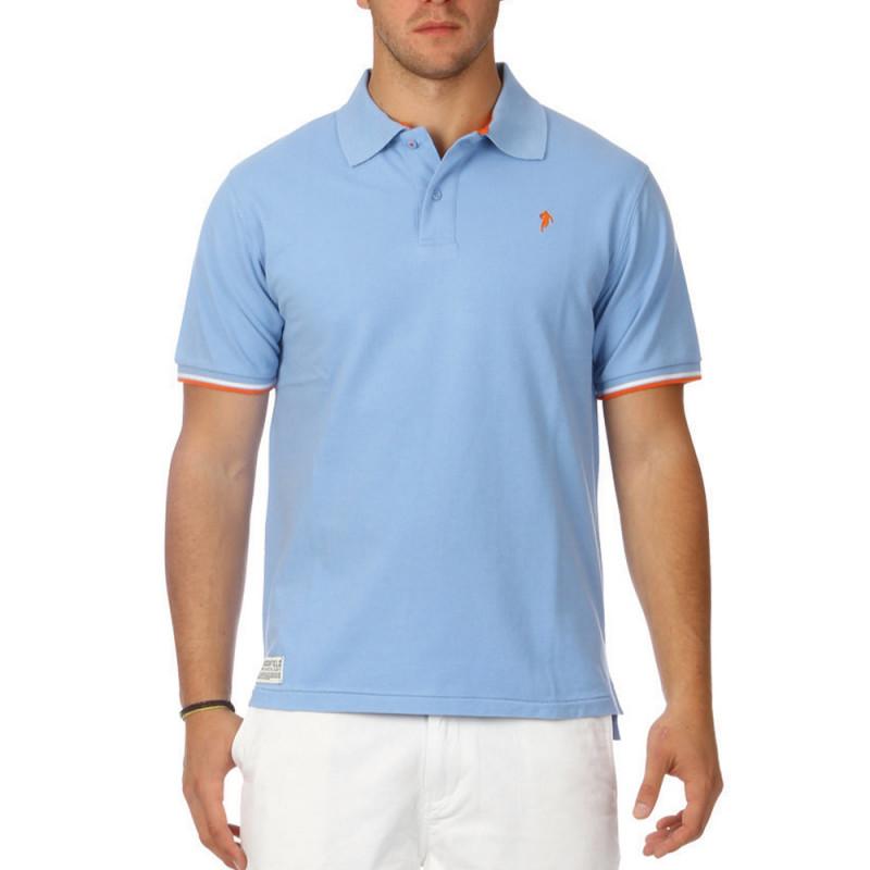 All Road sky blue polo shirt
