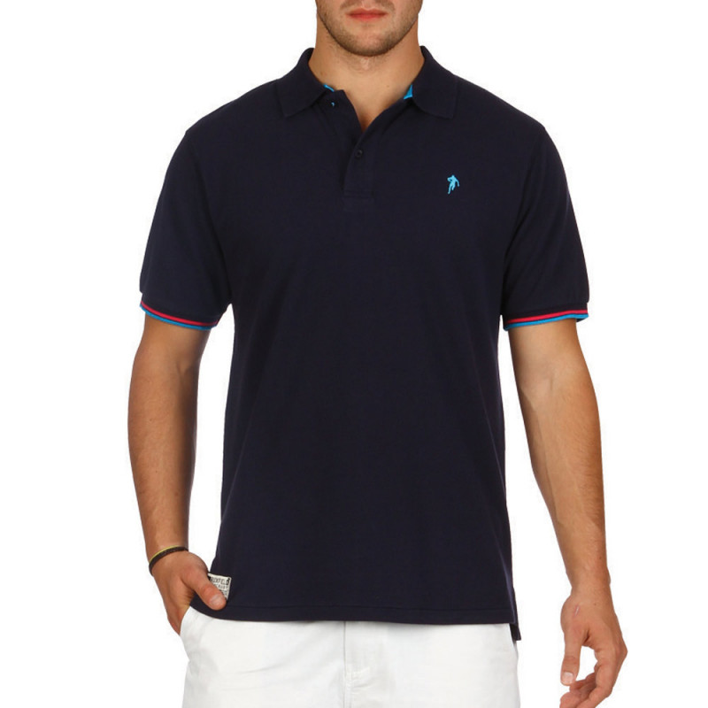 All Road navy blue polo shirt