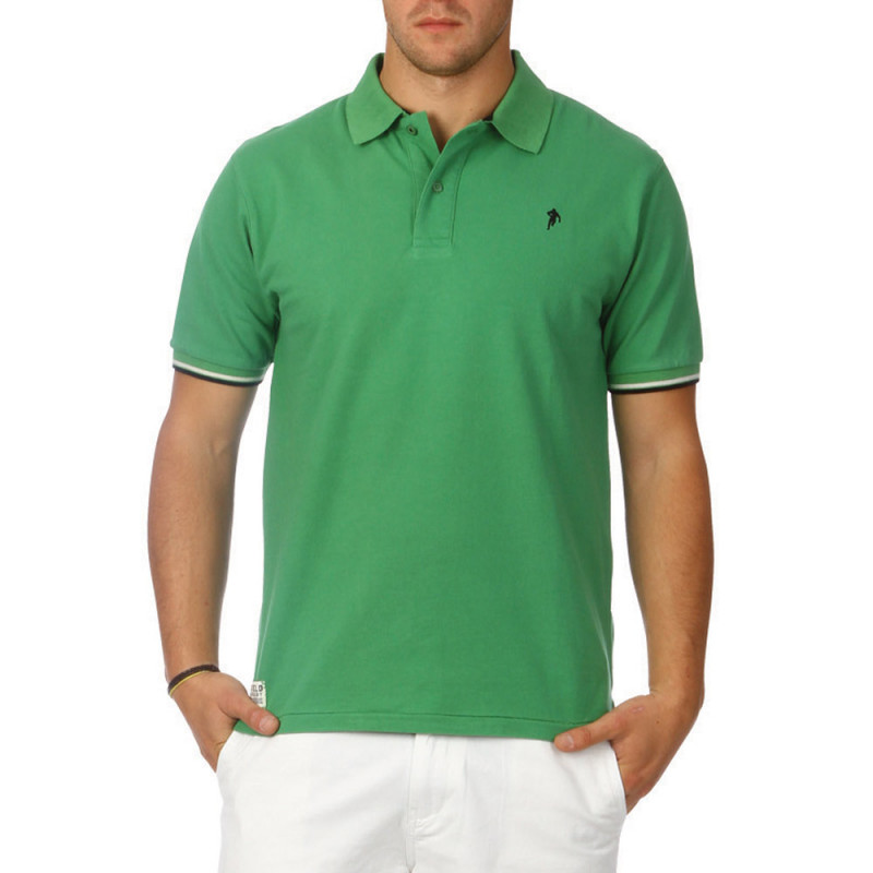 All Road green polo shirt