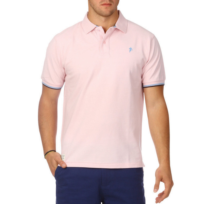 All Road pale pink polo shirt