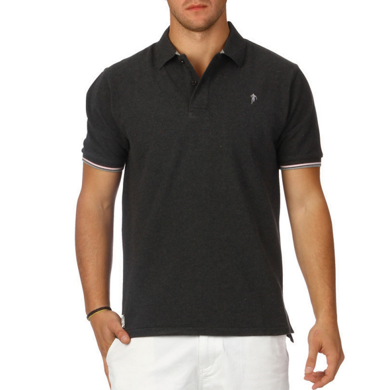 All Road charcoal grey polo shirt