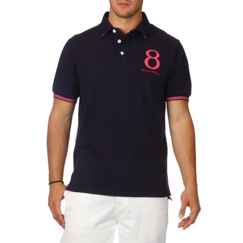 Rugby Colours piqué cotton polo shirt