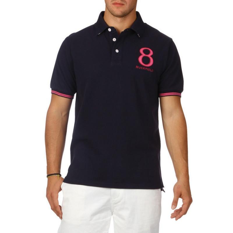 Rugby Colours piqué cotton polo shirt