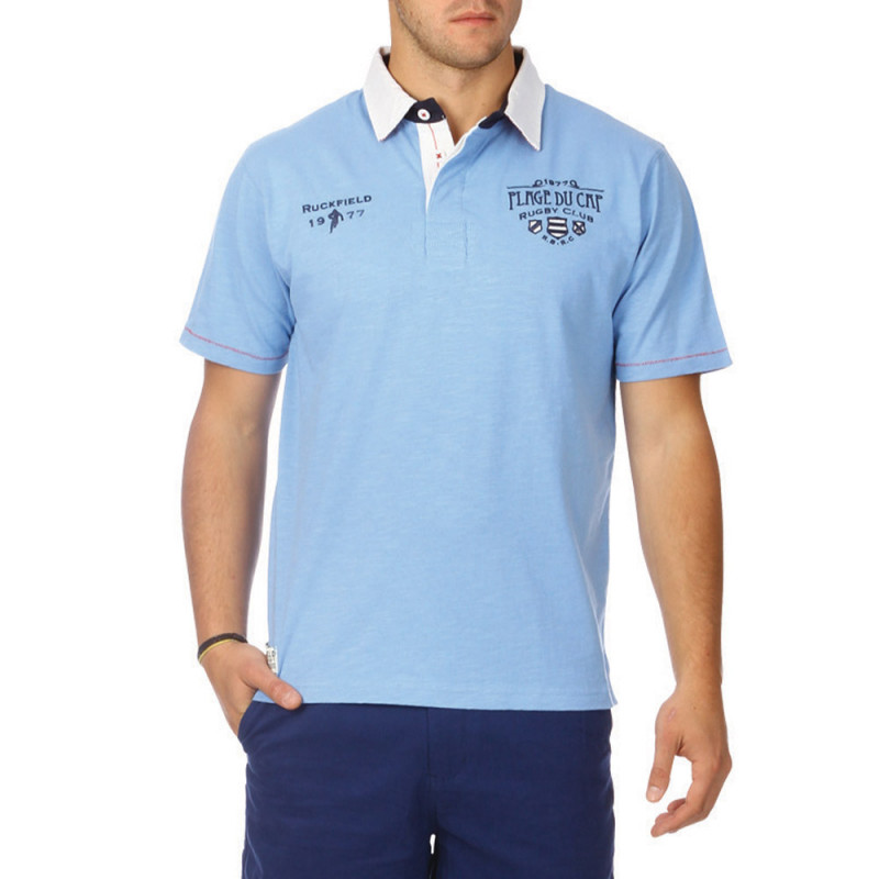 Ocean slubbed cotton polo shirt