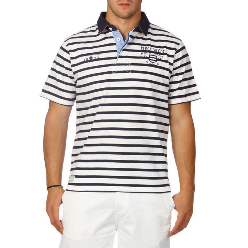 Sailor slubbed cotton polo shirt