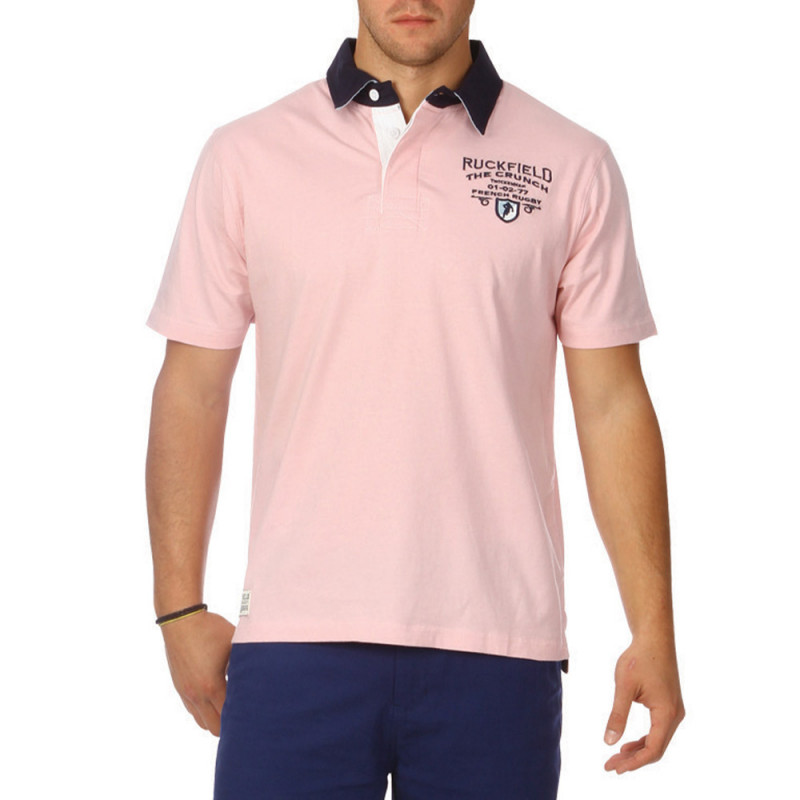 Classic The Crunch pink polo shirt