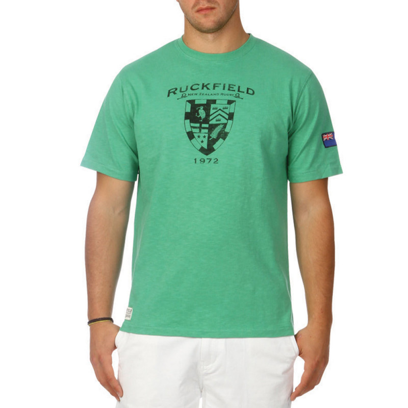 Green slubbed cotton t-shirt