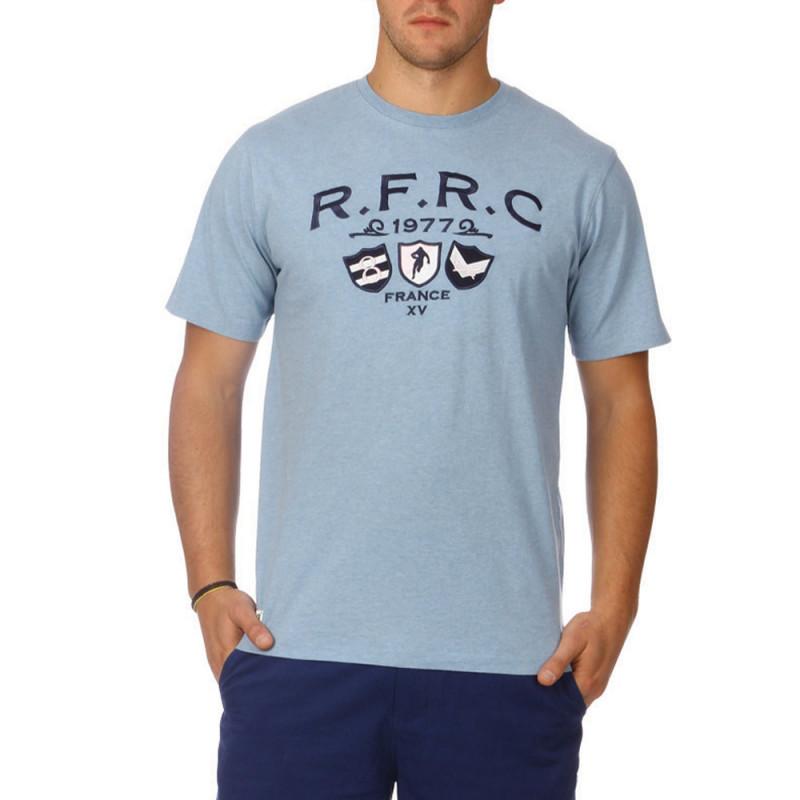 Classic blue cotton t-shirt