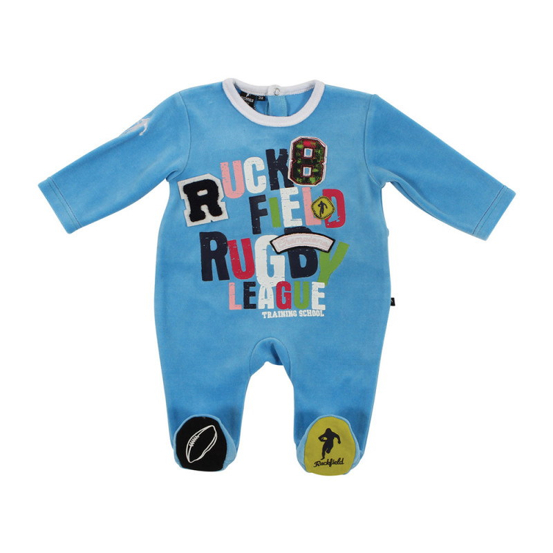 Baby Rugby League sleepsuit