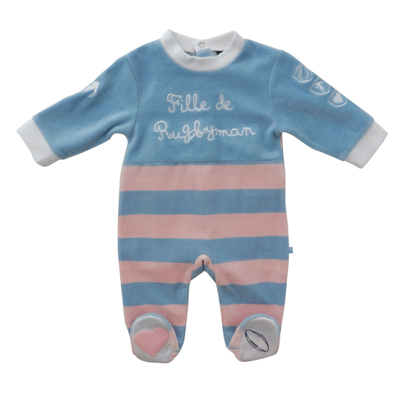 Rugbywoman baby sleepsuit