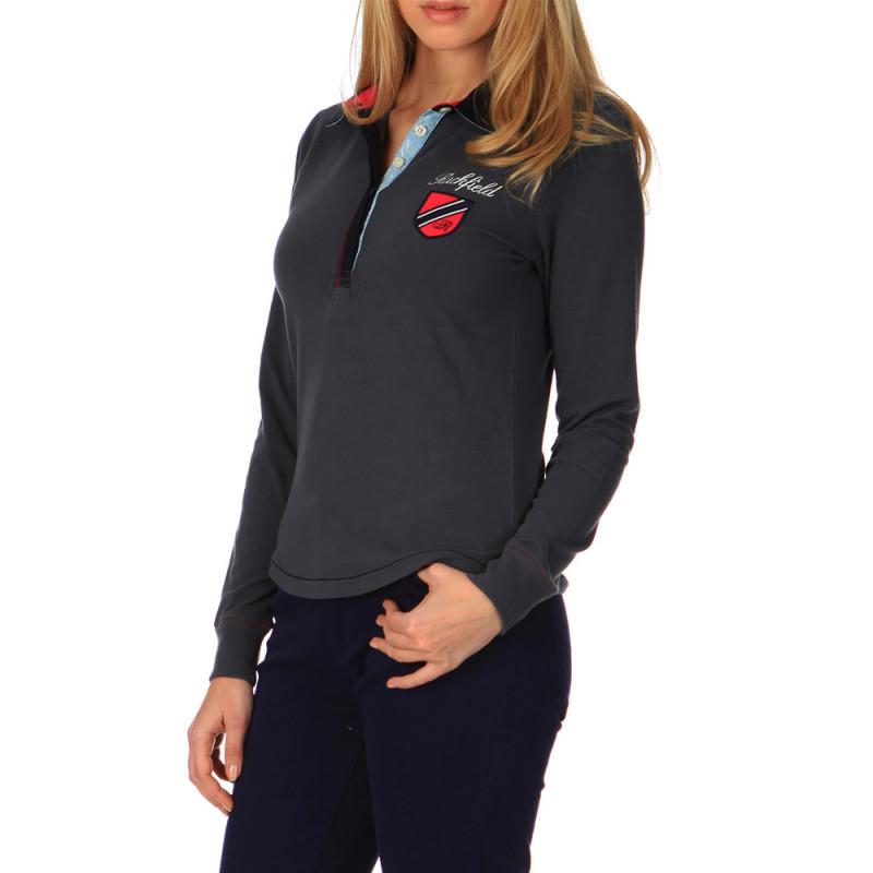Women's Classic Grey Polo Shirt