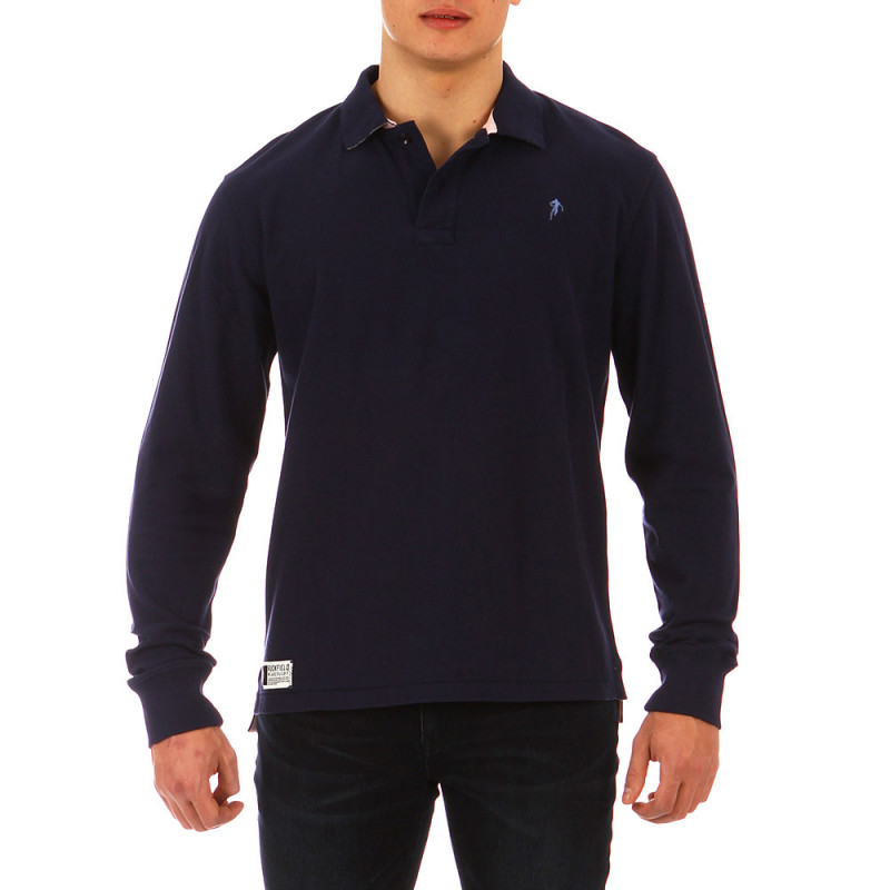 Blue Casual Rugby Polo Shirt