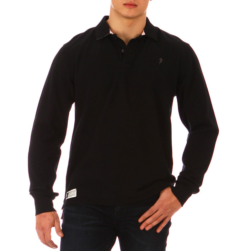 Black Casual Rugby Polo Shirt