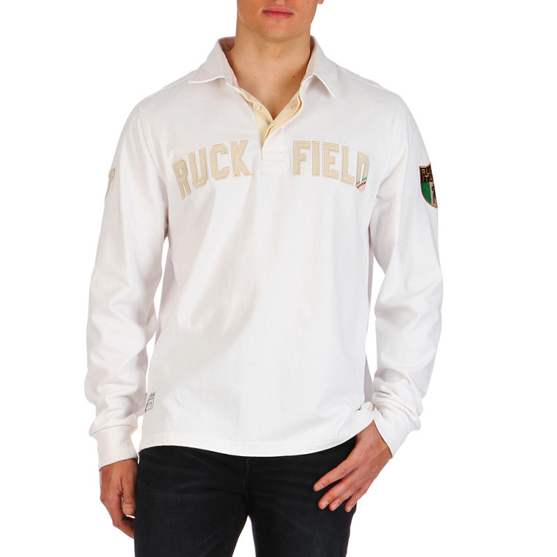 White Italia Rugby polo shirt