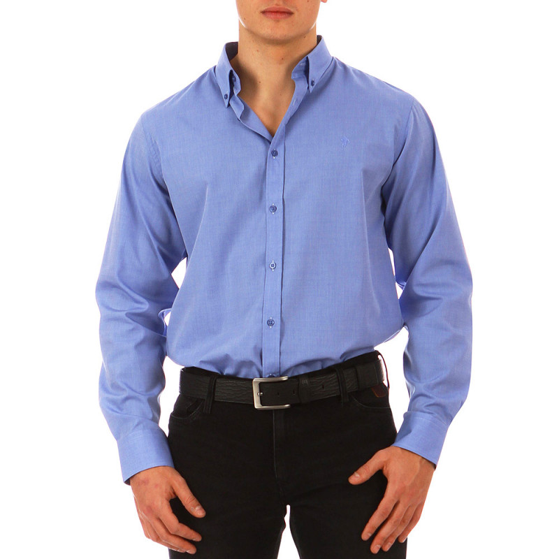 Straight sky blue shirt
